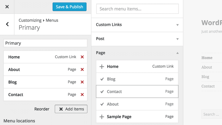 WordPress 4.3 billie interface